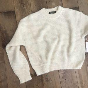 REFORMATION Finn Sweater Ivory XL White Ivory